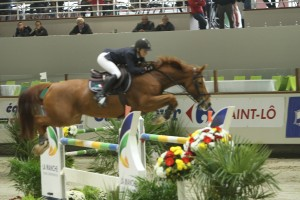 Axelle during the jump-off