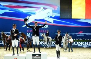 LA podium Grand Prix