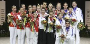 podium voltige équipes