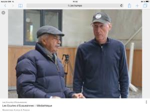 Jos Kumps et Nelson Pessoa les grands Maîtres